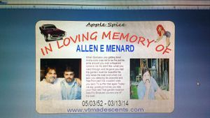 IN LIVING MEMORY OF ALLEN MENARD